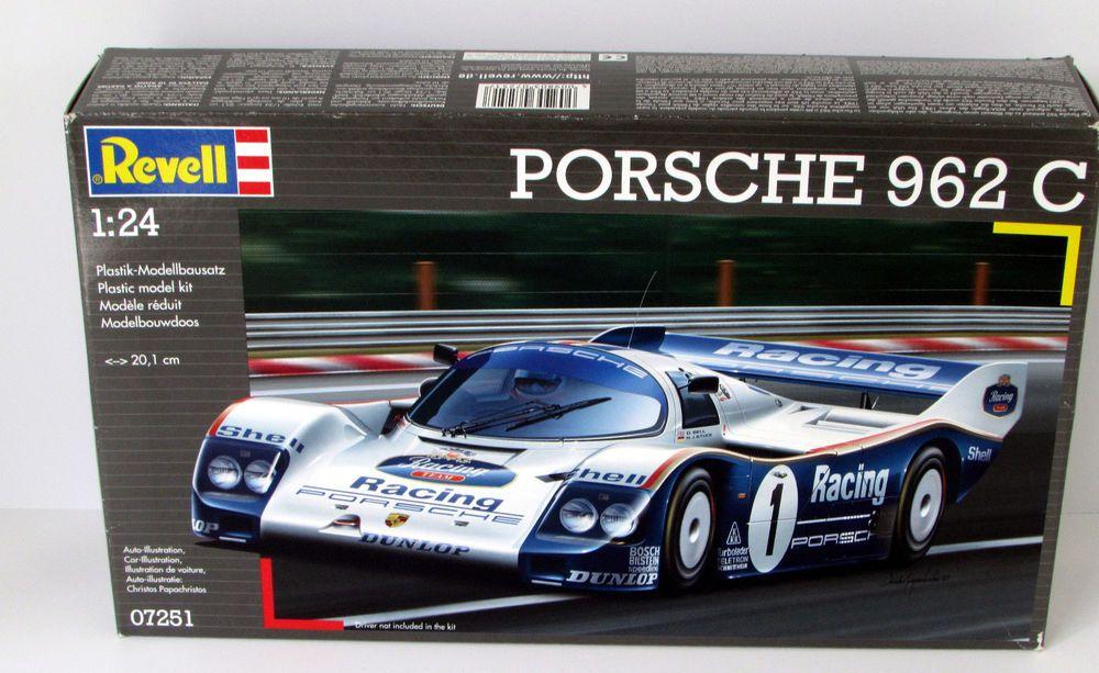 porsche 962 c revell germany 07251 1 24 scale race car. Black Bedroom Furniture Sets. Home Design Ideas