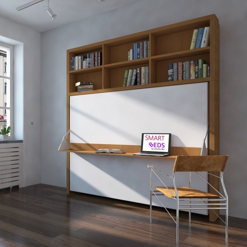 Dcouvrez un exemple de lit bureau horizontal escamotable pour