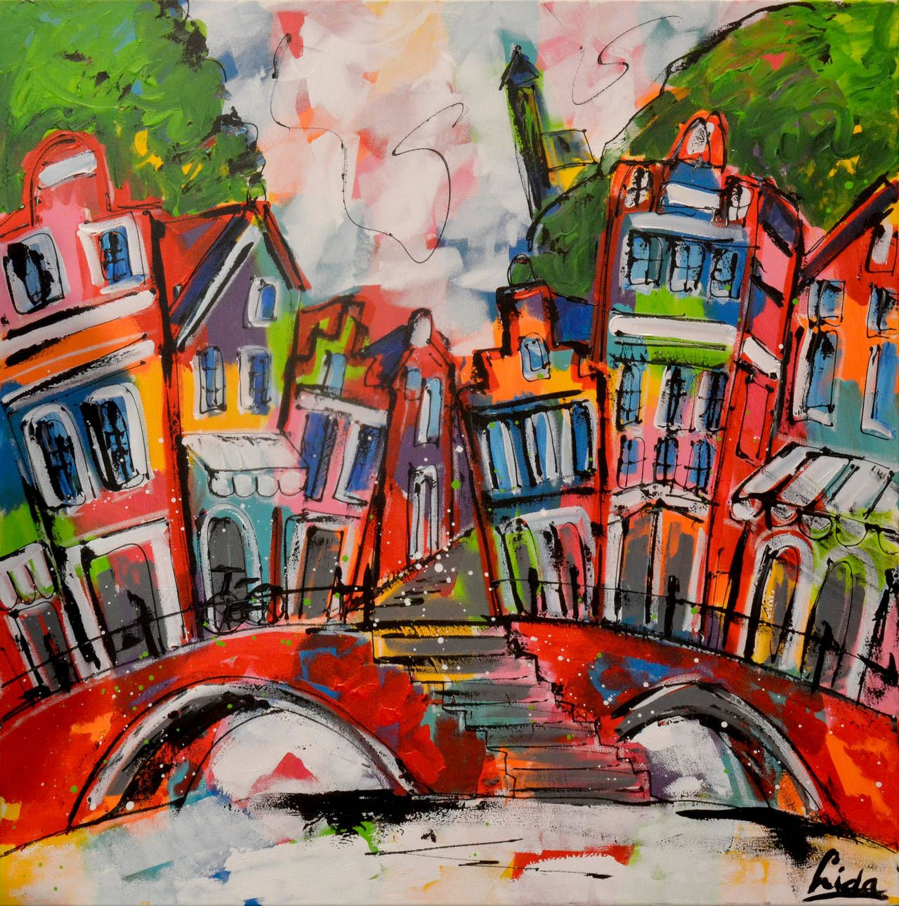 Amsterdam Canal See More Figurative Paintings At Https Www