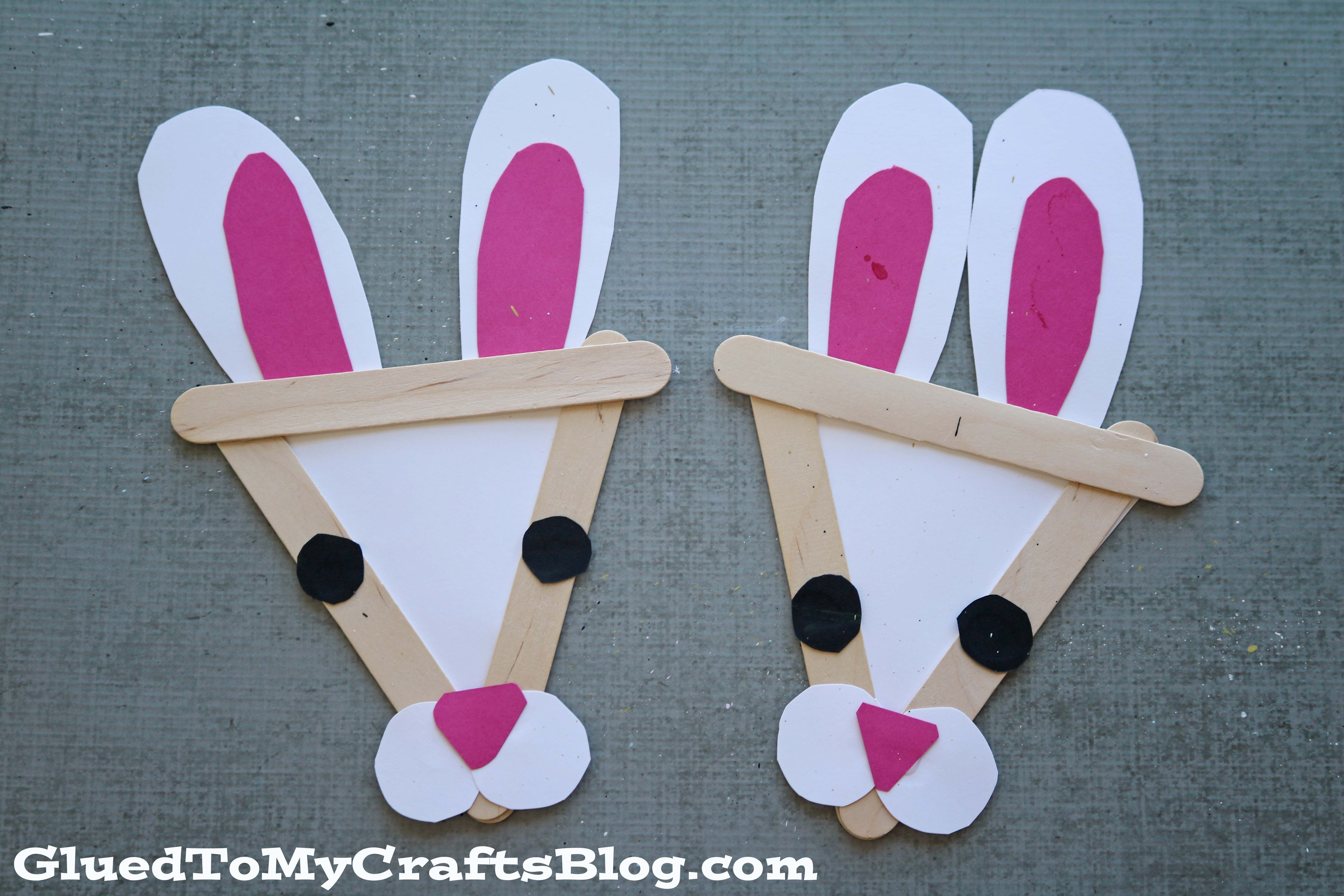 Attractive Crazy Craft Ideas For Kids Part - 4: Popsicle Stick Bunny - Kid Craft