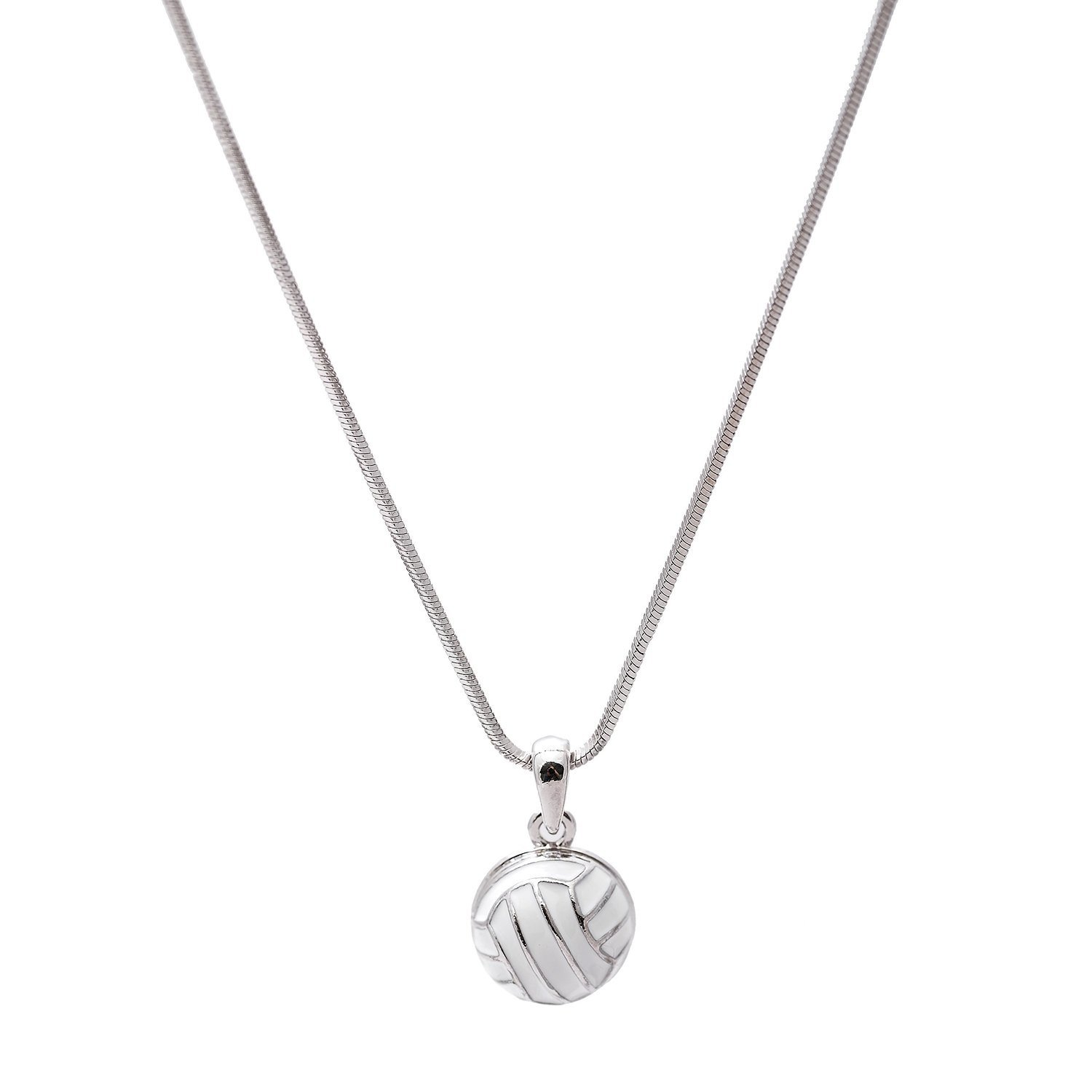 Jumping Strike Crystal Volleyball Necklace With Images Volleyball Necklace Volleyball Jewelry Volleyball Accessories