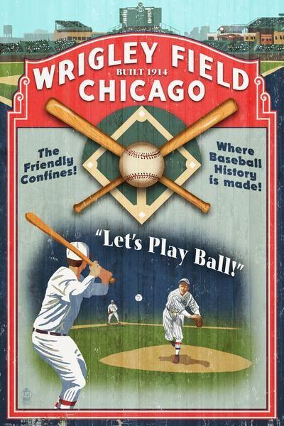 Pin By David Kandel On Stuff To Buy Wrigley Field Wrigley Baseball Posters