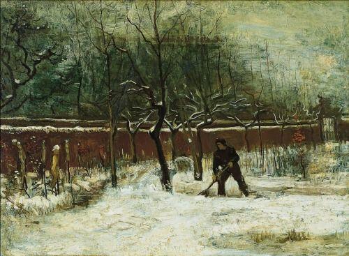 Van Gogh, Winter (The Vicarage Garden under Snow), January 1885