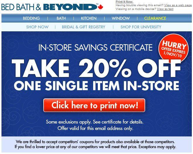 Bed Bath And Beyond Printable Coupons Free Printable Coupons