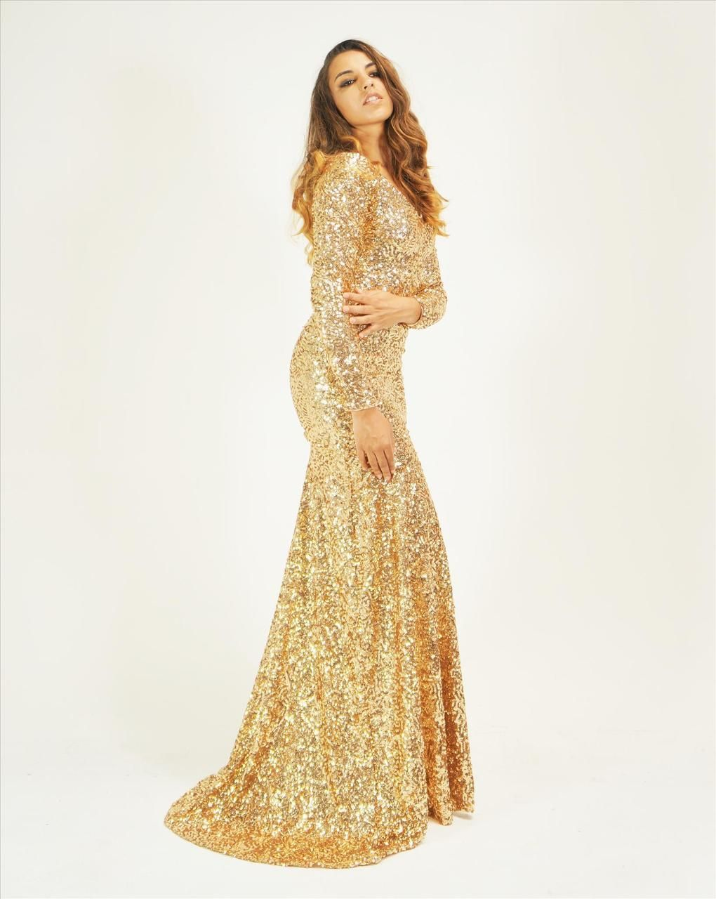 Crushed Sequin Gold Long Sleeve - 104.7KB