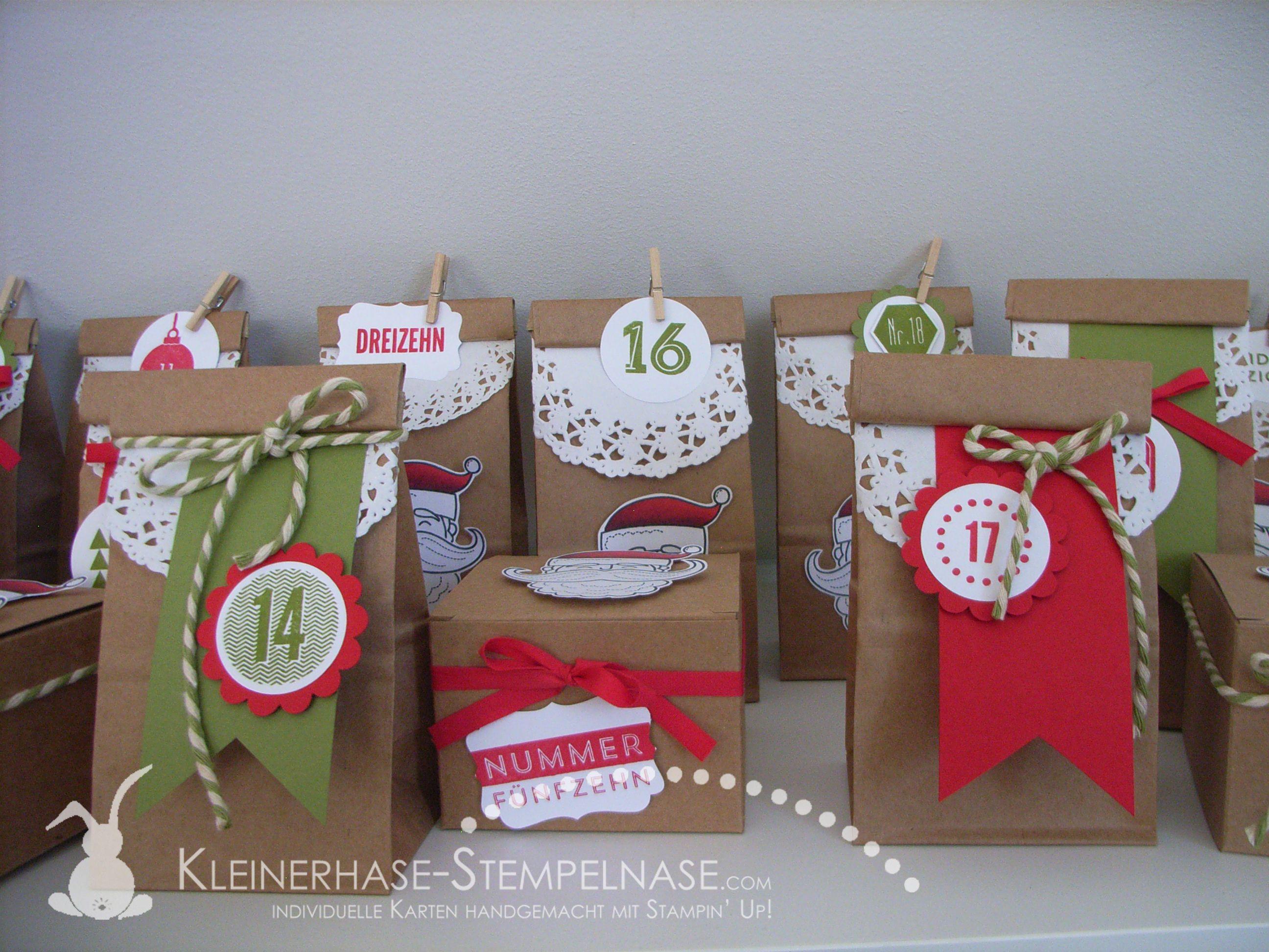 stampin up adventskalender weihnachten 24 t rchen santas. Black Bedroom Furniture Sets. Home Design Ideas