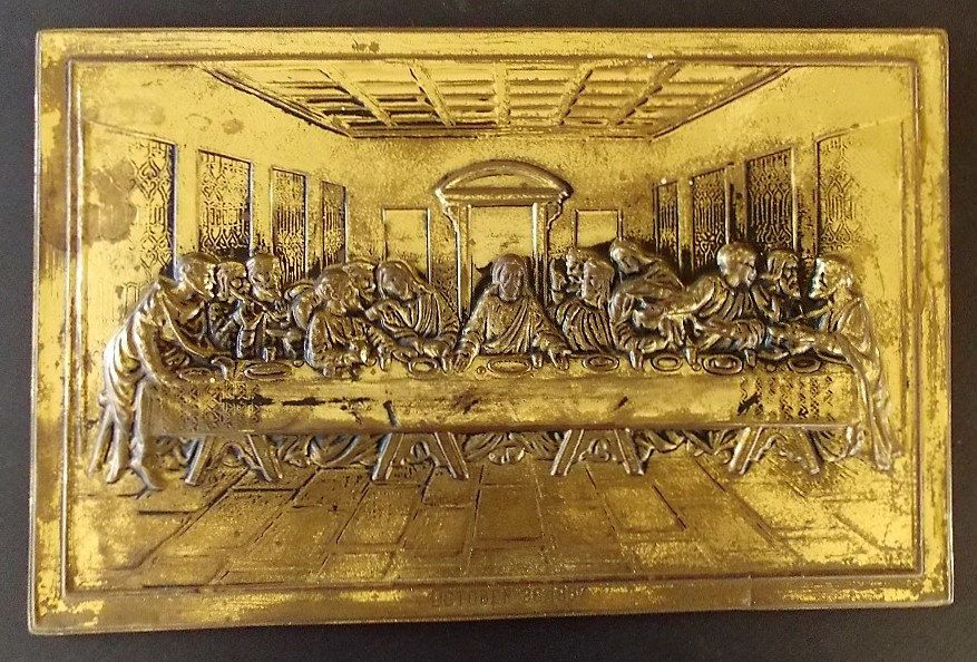 Brass Last Supper Picture, 3 Dimensional, Brass Picture, Very Old ...