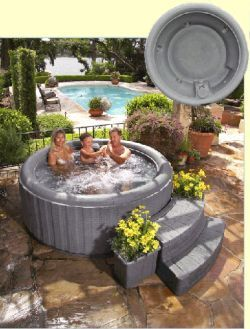 Pin By Elizabeth Ashton On Wish List Inflatable Hot Tubs Hot Tub Hot Tub Surround