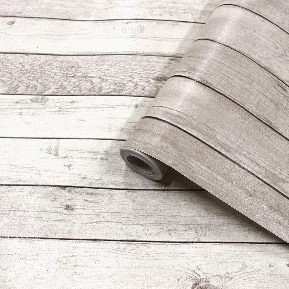 Akea Wood Peel And Stick Wallpaper Removable Vintage Wood Plank Contact Paper Self Adhesive Removable Wall Covering Prep Vintage Wood Wood Planks Wall Covering