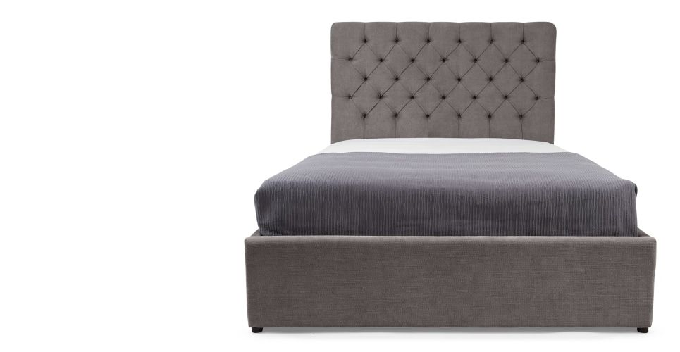 Skye Polsterbett Mit Stauraum 180 X 200 Cm Zinngrau Doppelbett Mit Stauraum Bett Lagerung Bett Ideen