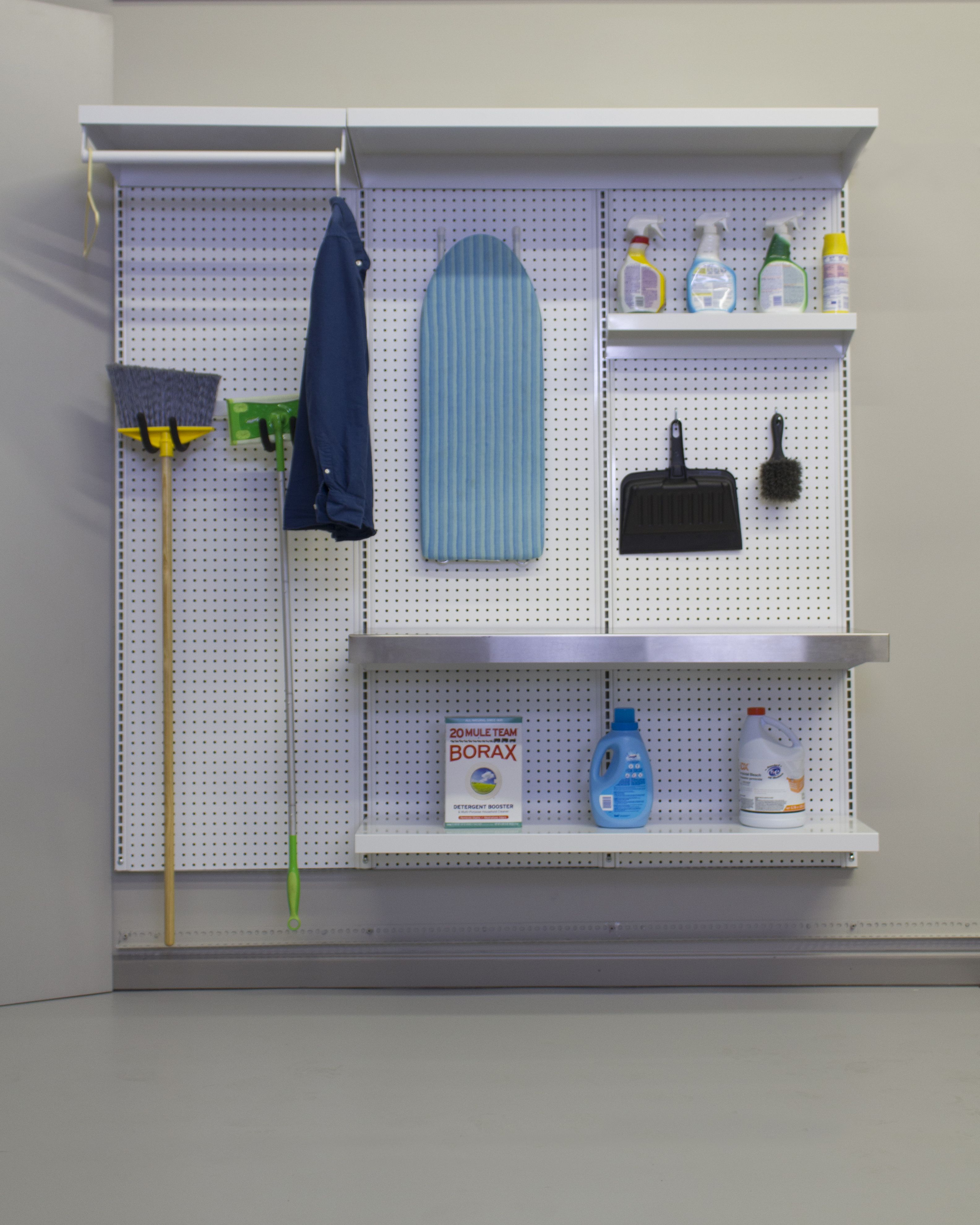 Check out our laundry room kit. It includes a stainless counter for folding clothes and a clothes rail to hang clothes. Go to https://shorewallsystems.com/catalog/6-laundry-kit to purchase your's today!