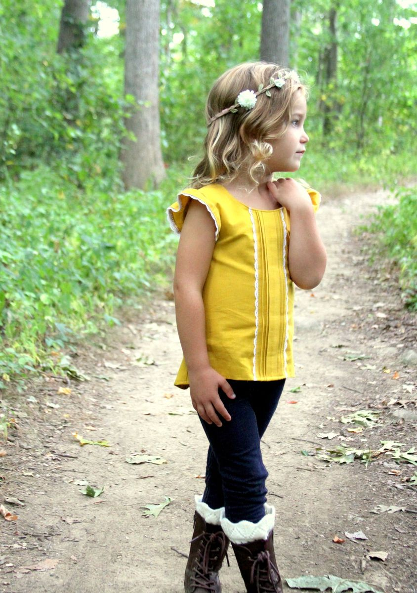 Helena\'s Button Back Top & Dress. PDF sewing pattern toddler girl ...