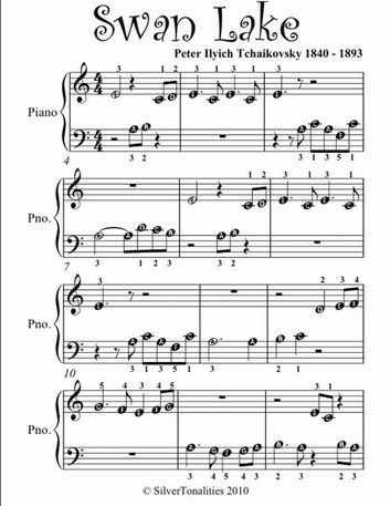Swan Lake Beginner Piano Sheet Music In 2020 With Images Piano