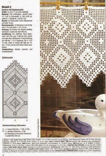 Filet Crochet valance, #Free #crochet #pattern | filet crochet ...