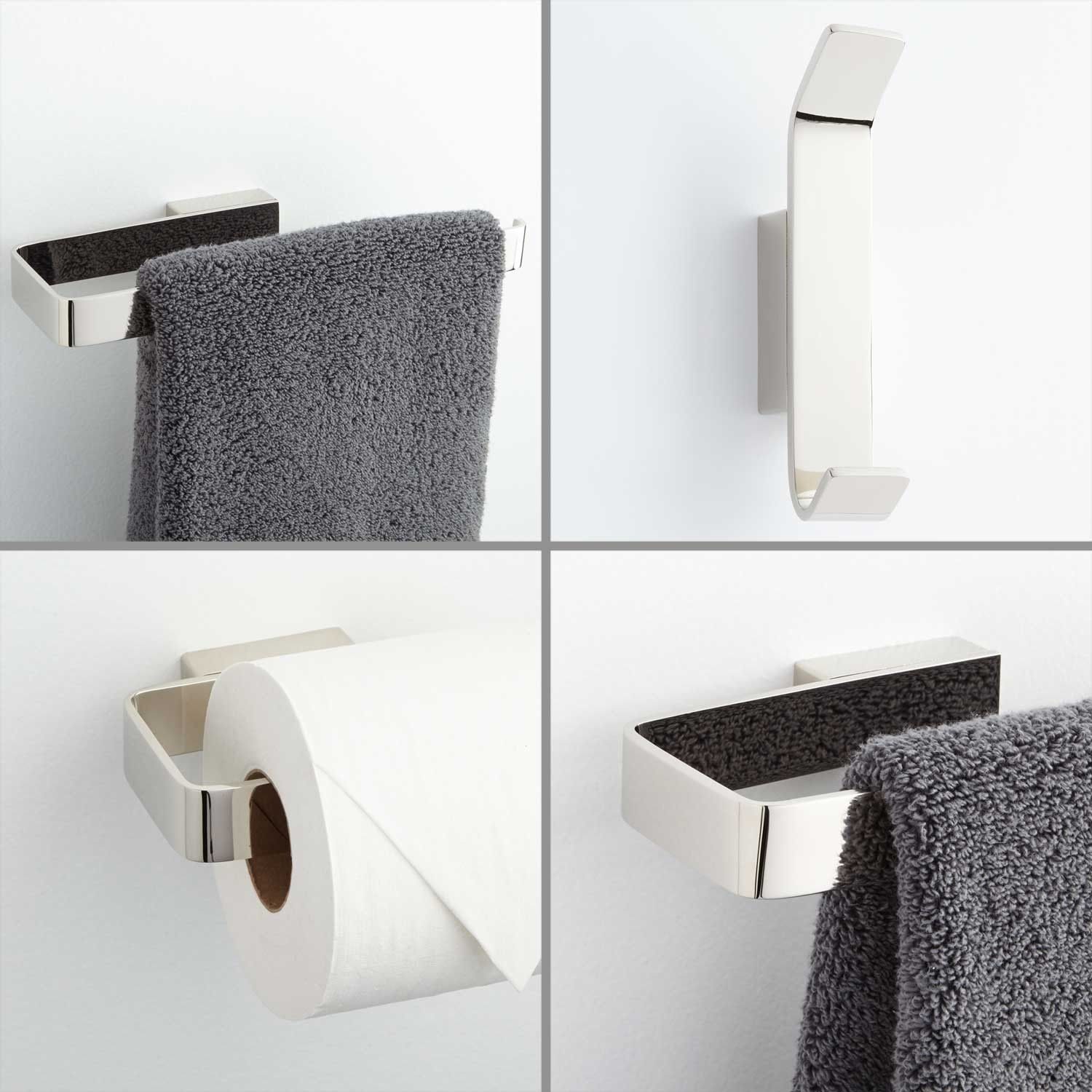 Newberry 4-Piece Bathroom Accessory Set | Let The Remodeling Begin ...