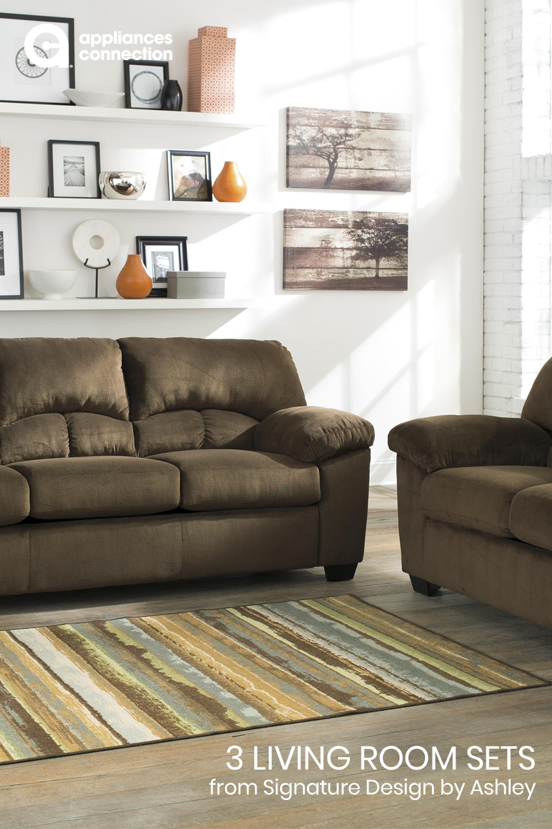 0fbfe44e4f This 2-Piece living room set from the Dailey Collection includes a full sofa  sleeper and loveseat in chocolate brown is perfect for visiting friends or  ...