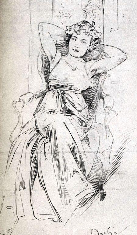 Mucha drawing ✏✏✏✏✏✏✏✏✏✏✏✏✏✏✏✏  ARTS ET PEINTURES - ARTS AND PAINTINGS  ☞ https://fr.pinterest.com/JeanfbJf/pin-peintres-painters-index/ ══════════════════════  Gᴀʙʏ﹣Fᴇ́ᴇʀɪᴇ ﹕☞ http://www.alittlemarket.com/boutique/gaby_feerie-132444.html ✏✏✏✏✏✏✏✏✏✏✏✏✏✏✏✏
