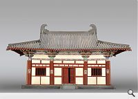 Haupthalle des Tempels Nanchan Si, Wutai, Provinz Shanxi (Tang-Dynastie, 782). © Chinese Academy of Cultural Heritage, Beijing