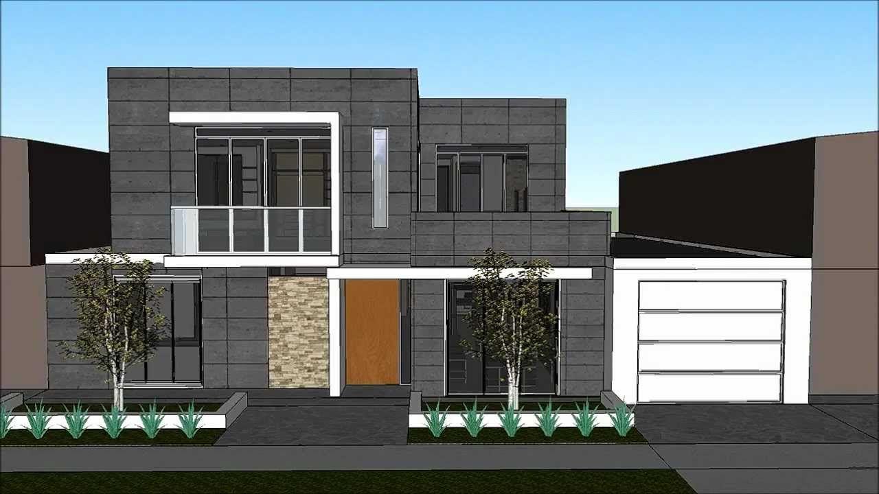 Planos gratis casa moderna minimalista parte 1 fachadas for Casa moderna 1 11 2