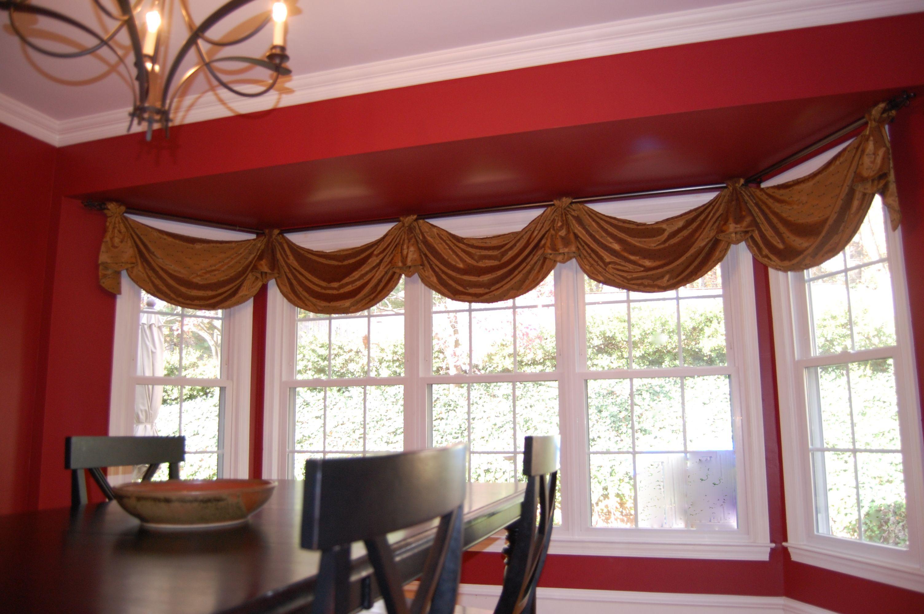 Window treatment ideas bow window treatment ideas for Blinds for bow windows ideas