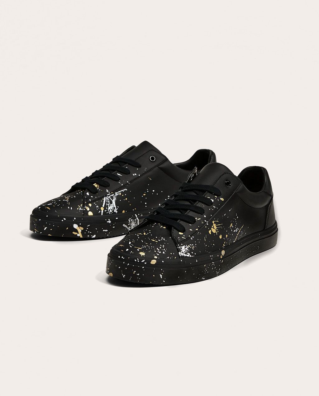 5baf5dfb0b96 BLACK PLIMSOLLS WITH PAINT SPLATTER-View all-SHOES-MAN