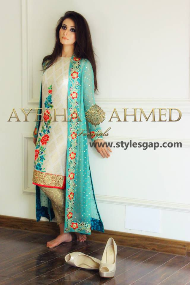 e1bda79d260 Ayesha Ahmed Formals Party Wear Dresses Designs 2016-2017 Collection (21)