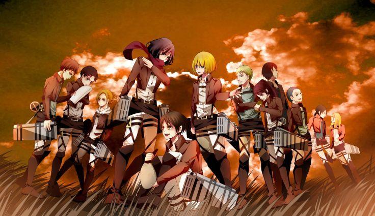 Shingeki No Kyojin 104th Trainees Squad Wallpaper 2250x1300 243923 Attack On Titan Attack On Titan Series Anime
