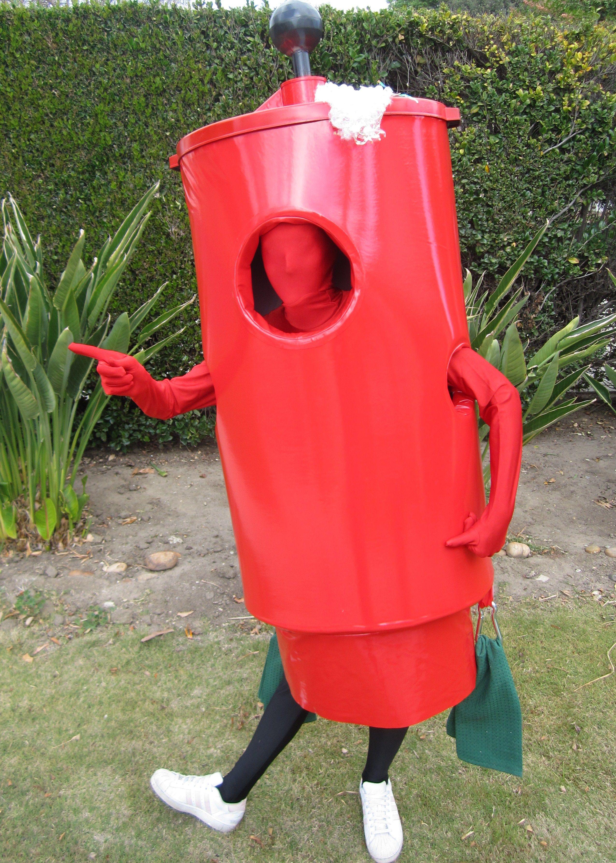 Giant golfball washer mascot costume custom designed for cbs sports by nicole beckett se