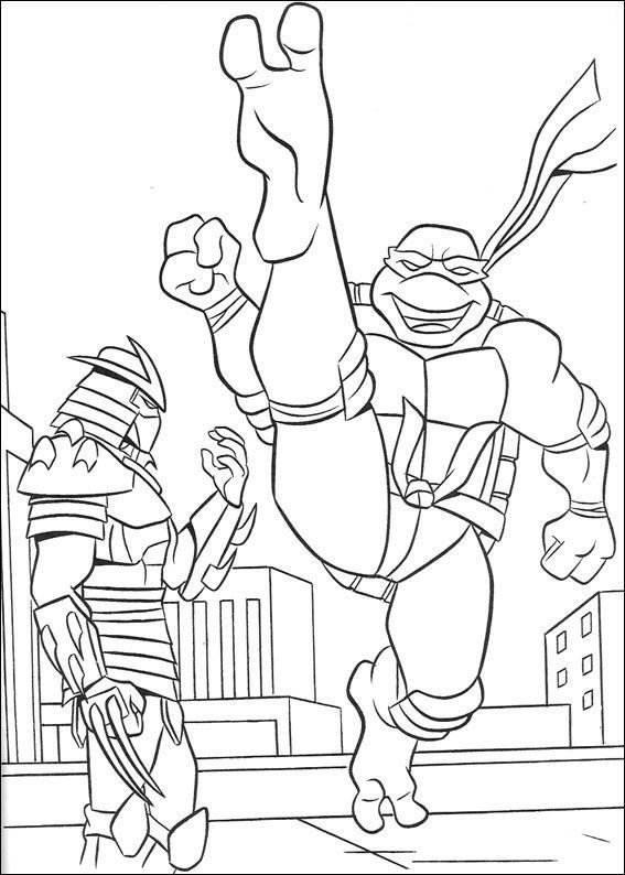Teenage Mutant Ninja Turtle Coloring Pages | colorful pages ...