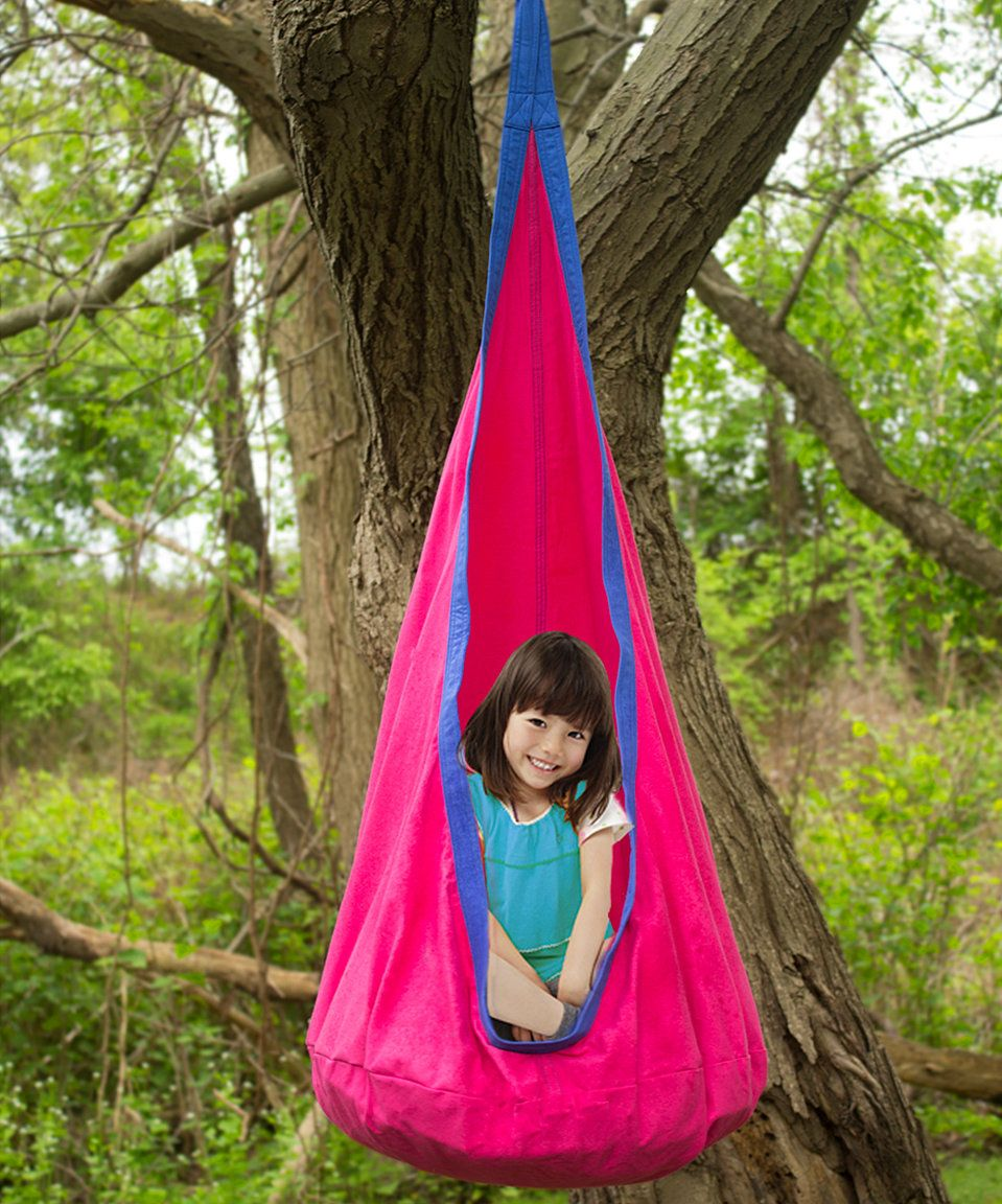 Take a look at this Pink Hammock Pod Kids Swing today!