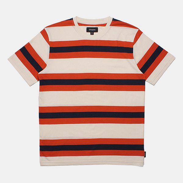 Brixton Linus Knit T-Shirt - Cream/navy