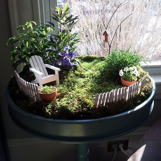 mini indoor garten indoor fairy garden ideas | note outside our fairy door
