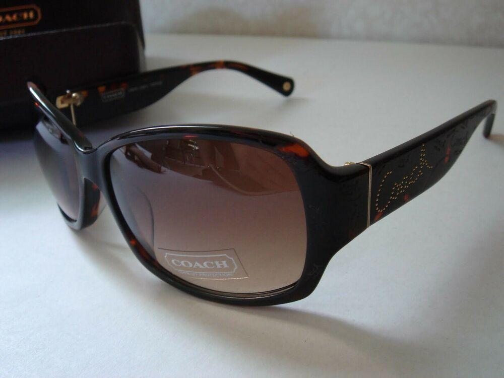 New With Tags Coach Taryn Tortoise Women's Sunglasses 8028