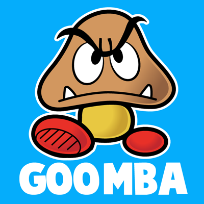 How to Draw Goomba from Nintendo\'s Super Mario Bros. with Easy Step ...