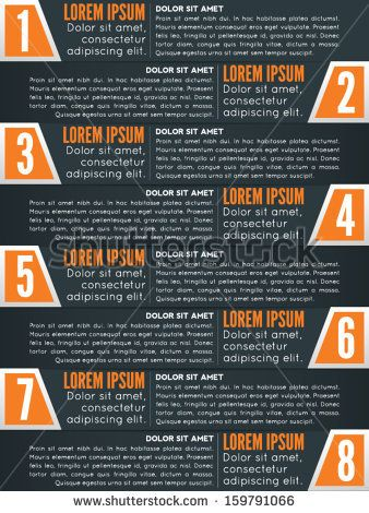 Modern Dark Blue And Orange Colored List Template With Numbers Can Be Used For Infographics Magazine Layouts Website Ban Color List Template Website Banner