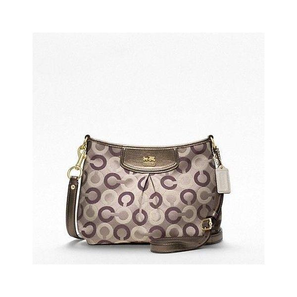 Coach Madison Op Art Multi Fashion Swingpack found on Polyvore