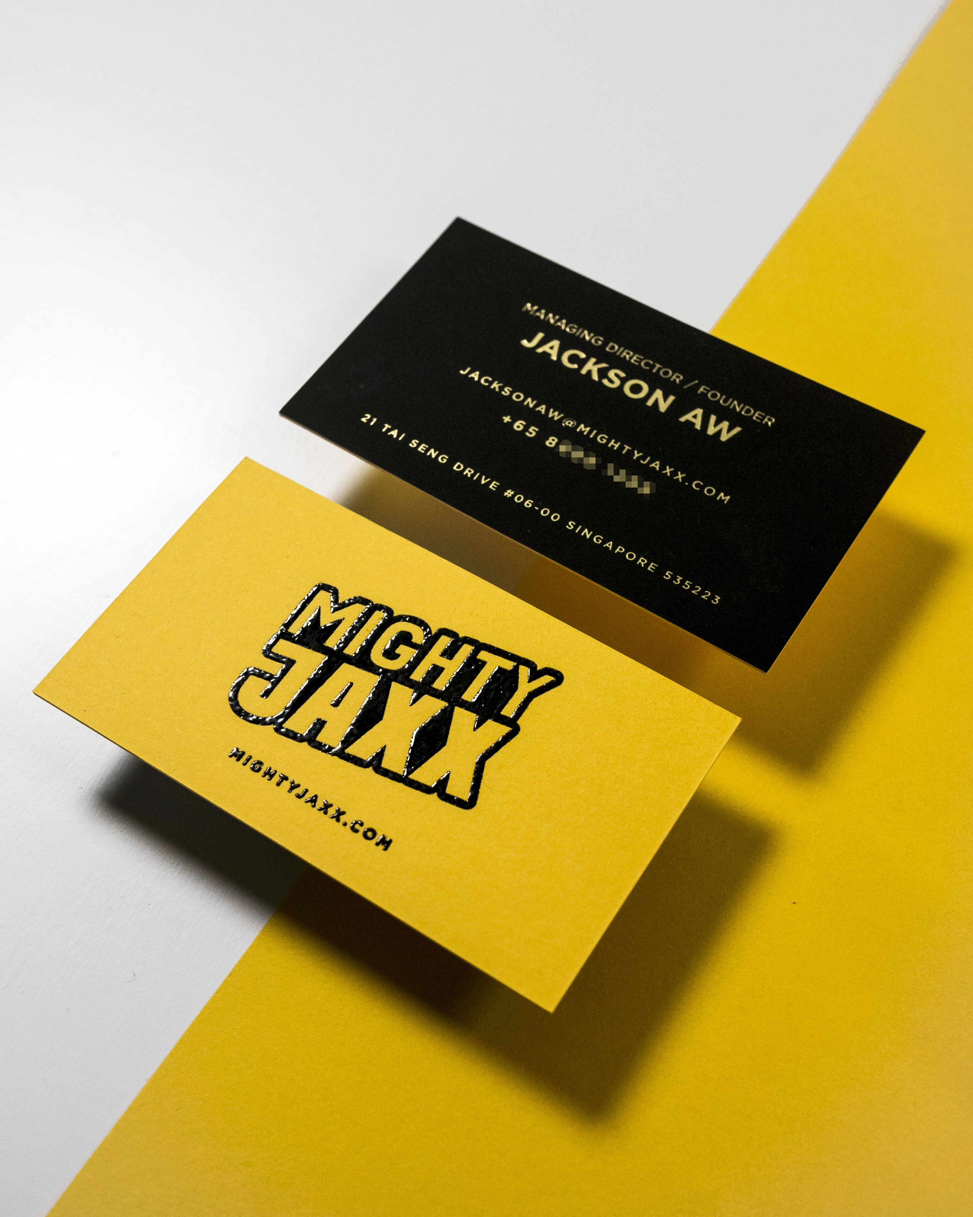 Black And Yellow Thermography Business Card Cards Agency Business Cards Name Cards
