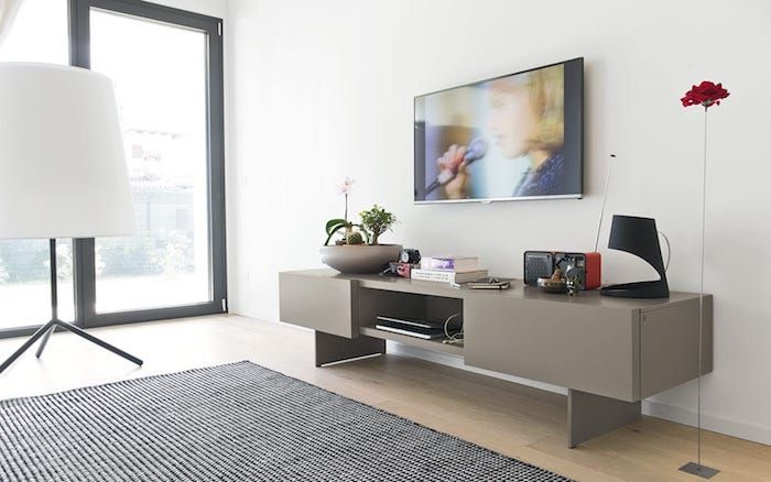 Wohnzimmer Tv Wand Modern. wohnzimmer mit essbereich mit dunklen ...