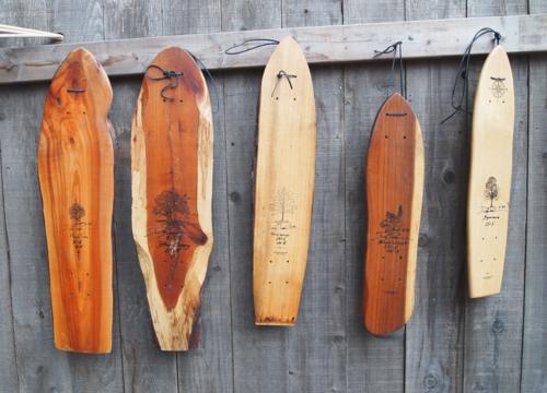 hand shaped wood longboards
