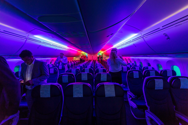 Passagiersruimte Dreamliner Vliegtuig