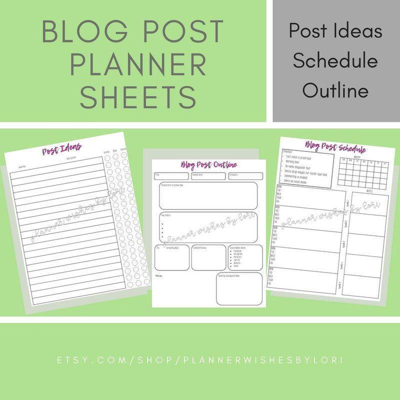 Blog Post Outline Blog Post Template Blog Planner Workbook