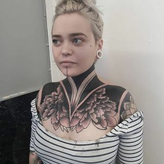 Neck Tattoo For Man Woman Neck Tattoos Women Neck Tattoo For Guys Front Shoulder Tattoos