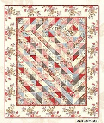 Details about SWEET ROMANCE QUILT KIT - Pattern + Beautiful Moda ... : reproduction quilt kits - Adamdwight.com