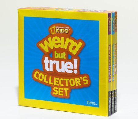 At last, all those weird but true facts that kids love so much are collectedin this fun-tastic set of three compact, easy to handle and fun to browsebooks. Wacky facts, fascinating information, and lively art combine to makethese books irresistible brain candy for young readers. Kids will have so muchfun that they won't even realize they're learning!    Did you know that peanut butter can be converted into a diamond, that a sneezetravels 100 miles an hour, or that a sheep, a duck, and a rooster
