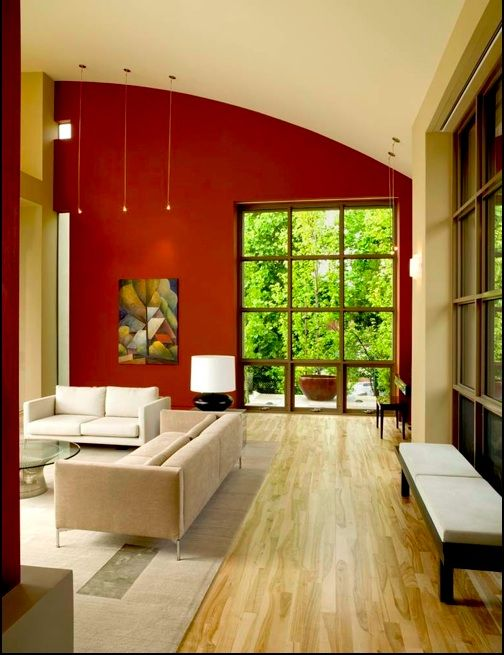 look of a true accent wall, this color is too red, we would look