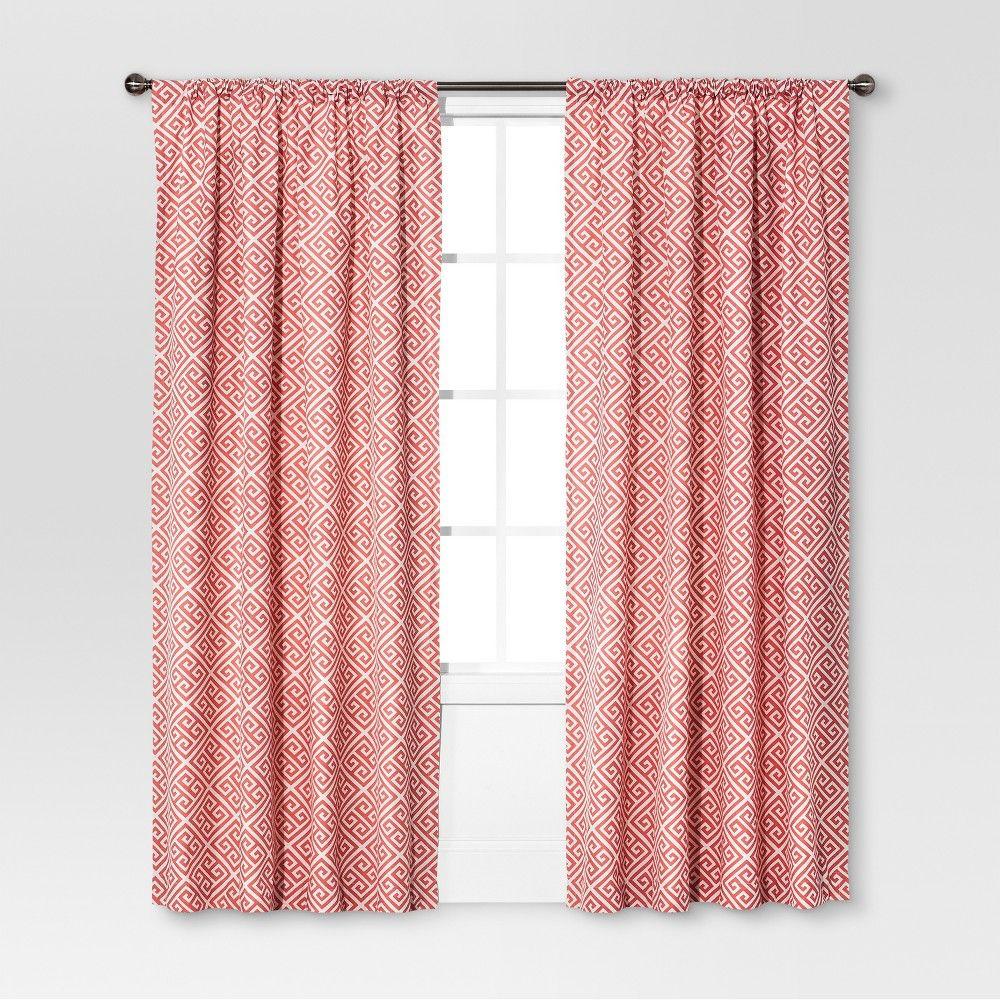 Greek Key Curtain Panel C Pink Threshold In 2019