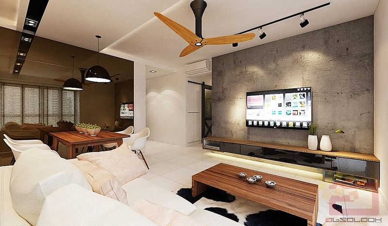 Hdb bto 4 room scandustrial at blk 92 skyterrace dawson for Living room designs singapore