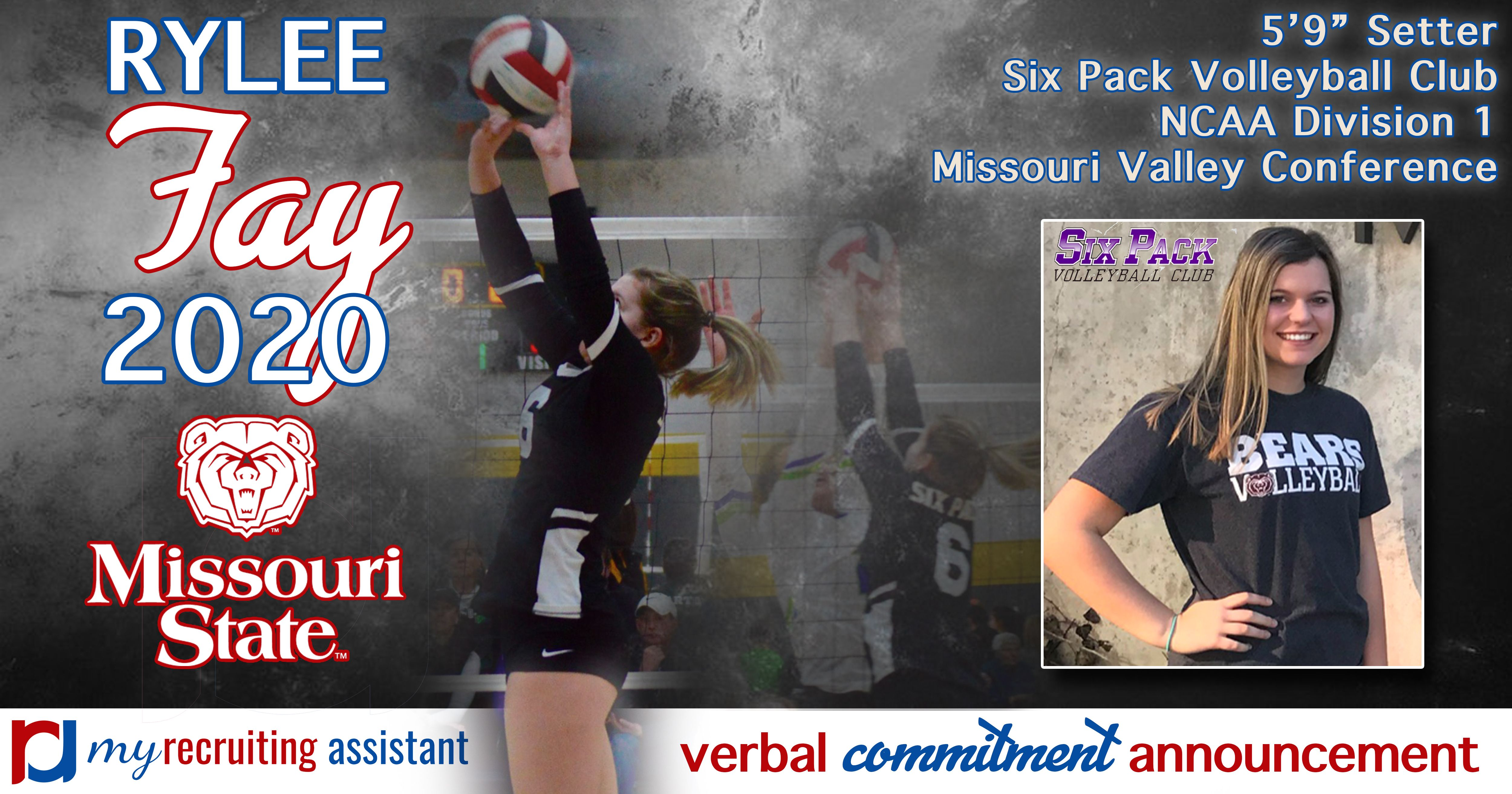 Class Of 2020 Ncaa Division I Missouri State Volleyball Commit Missouri State Missouri Valley Recruitment