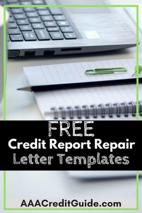 Free Credit Repair Sample Letters For   Credit Bureau