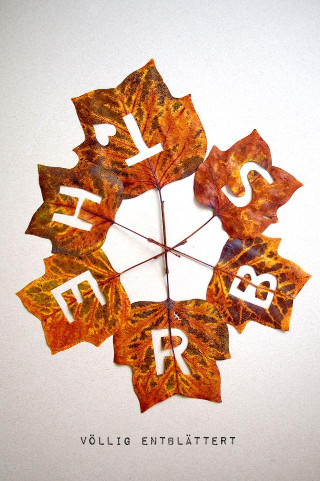 F nf minuten diy herbst bl tter herbst for Herbstblatter basteln